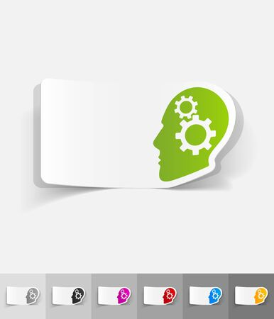 incarnation: idea concept paper sticker with shadow. Vector illustration