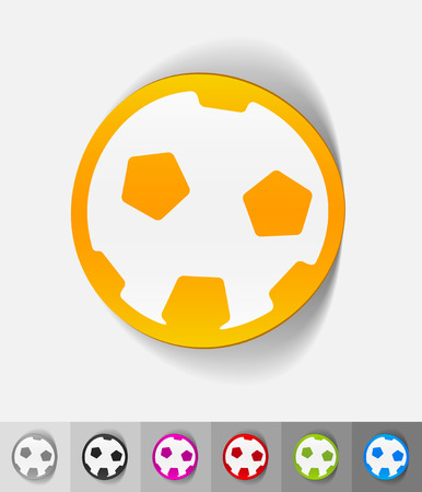 showground: football paper sticker with shadow. Vector illustration Illustration