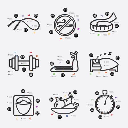 diet line infographic illustration. Fully editable vector file