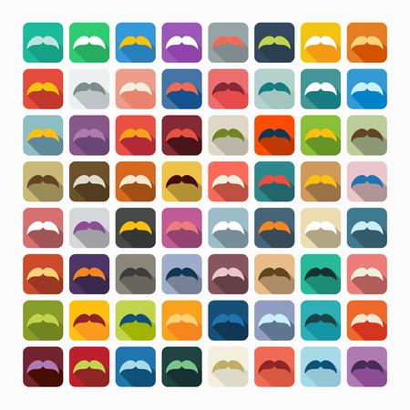 style goatee: Flat design: mustache