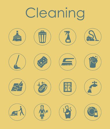 cleaning service: It is a set of cleaning simple web icons Illustration
