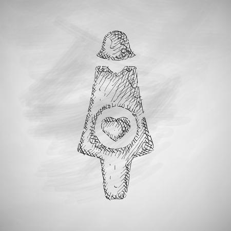 pregnant icon Illustration