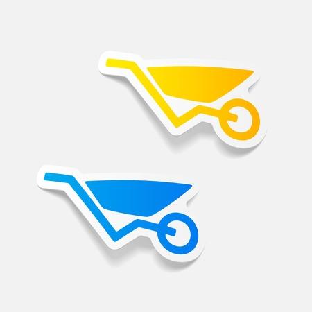 outdoor goods: realistic design element: wheelbarrow Illustration