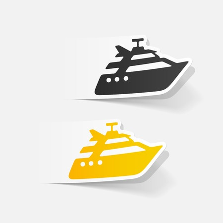 realistic design element: yacht