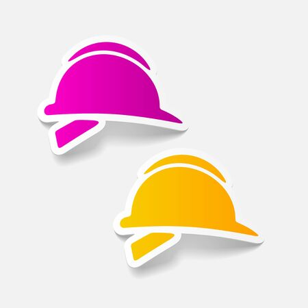 industrial construction: realistic design element: helmet Illustration