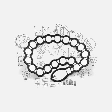 rosary: Drawing business formulas: rosary Illustration