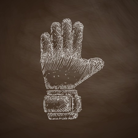 leather goods: gloves icon