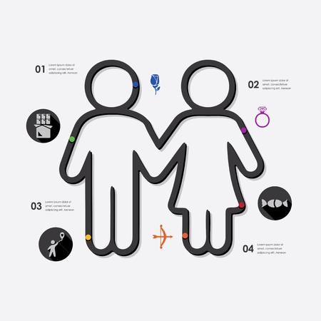 intimacy: Valentines Day infographic Illustration