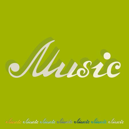 philharmonic: Flat design: music inscription