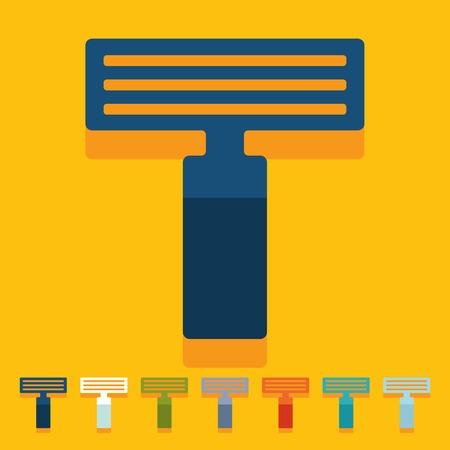 neatness: Flat design: razor