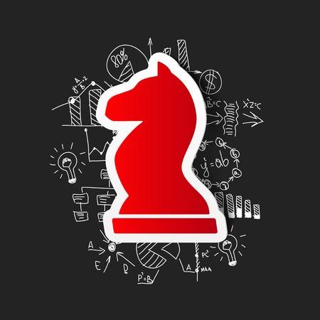 Tekening zakelijke formules: schaken
