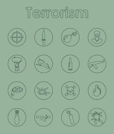 militant: It is a set of terrorism simple web icons Illustration
