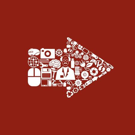 web side: arrow icon