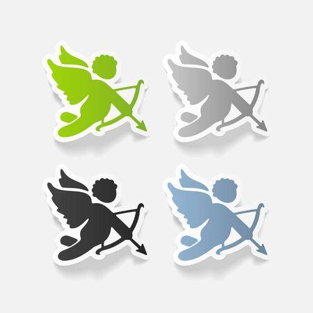 angel: realistic design element: angel Illustration