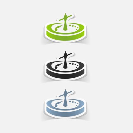 rotates: realistic design element: roulette Illustration