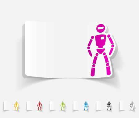 tab: realistic design element. robot Illustration