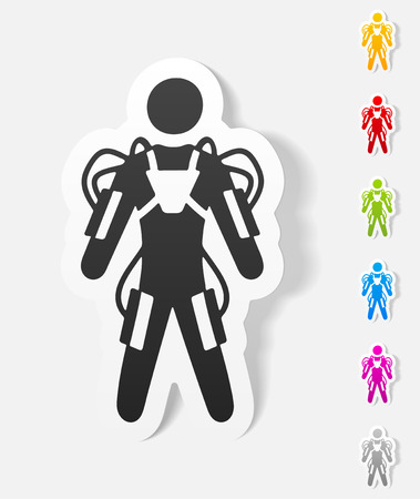 exoskeleton: realistic design element. exoskeleton