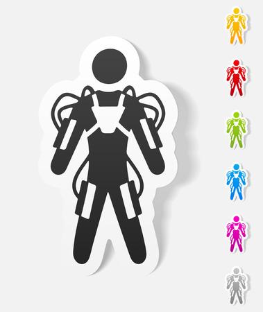 realistic design element. exoskeleton