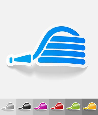 tubo di gomma adesivo di carta con ombra. Illustrazione vettoriale