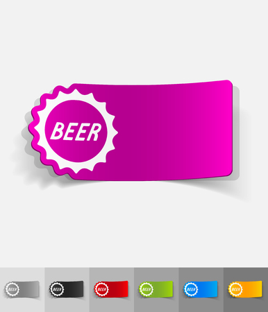 litre: bottle cap paper sticker with shadow. Vector illustration