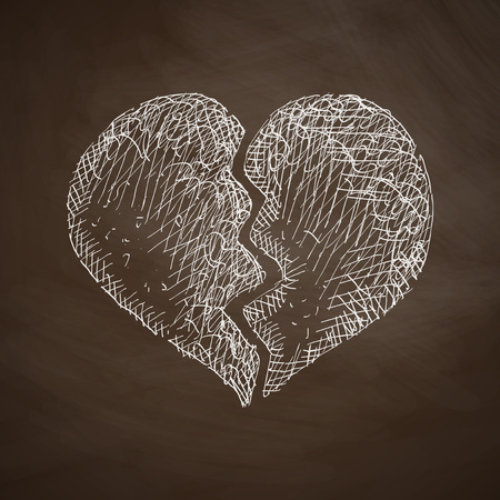 chastity: broken heart icon