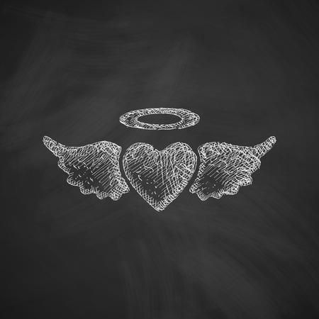 the seducer: heart angel icon Illustration