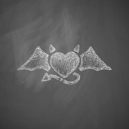 heart devil icon
