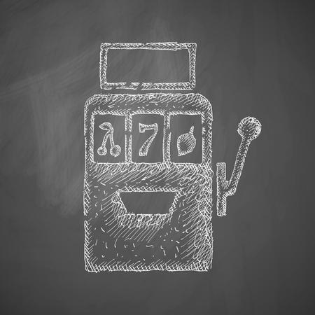 slot machine: slot machine icon Illustration
