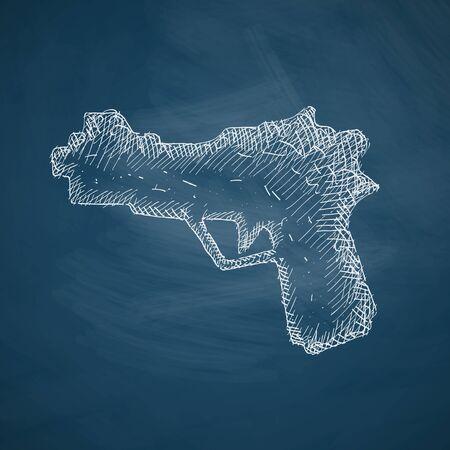 threaded: gun icon Illustration