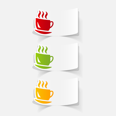 flavored: realistic design element: coffee