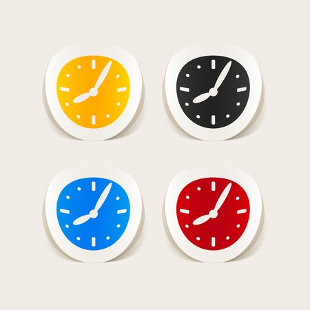 turnover: realistic design element: clock Illustration