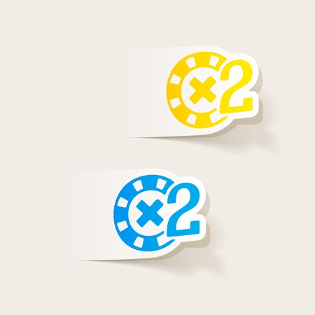 fichas de casino: realistic design element: casino chips Vectores