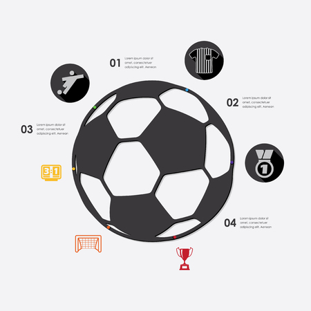 offside: football infographic Illustration