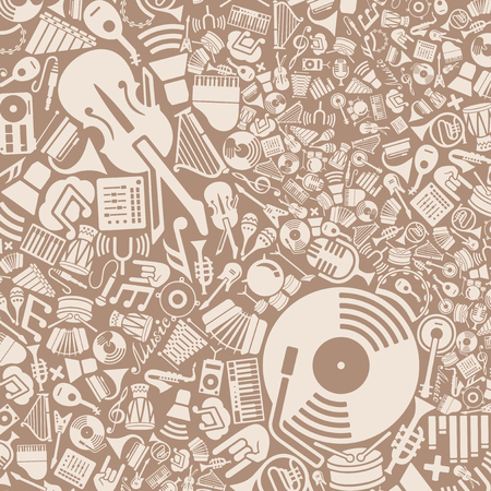 workmanship: vector background of the flat music icons