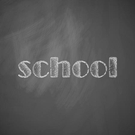 ビンテージ: 学校アイコン  イラスト・ベクター素材