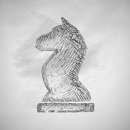 shah: chess icon Illustration