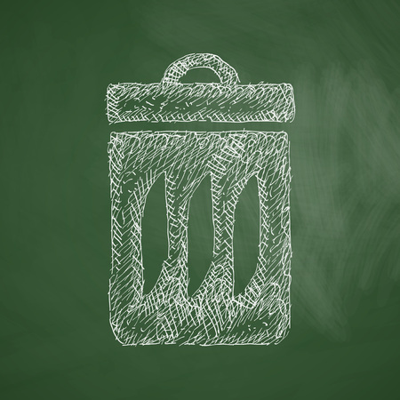 environmental analysis: trash can icon