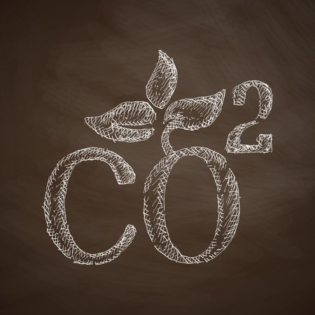 dioxide: co2 sign dioxide icon