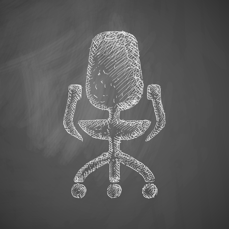 leather goods: office chair icon Illustration