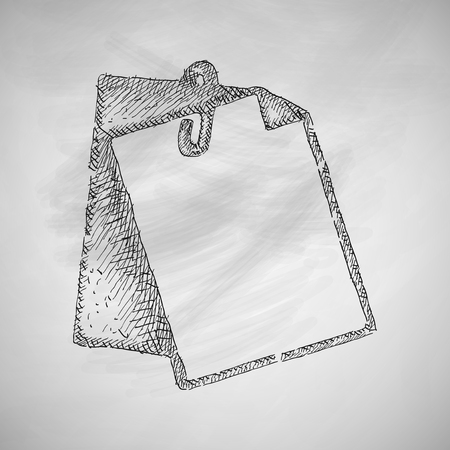 drawing paper: clipboard icon Illustration