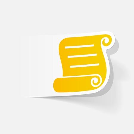 papier vierge: realistic design element: blank paper