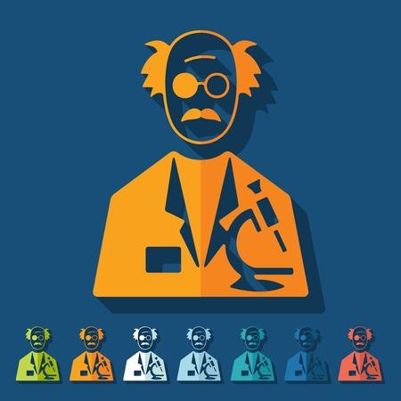 speciality: Flat design: scientist Illustration