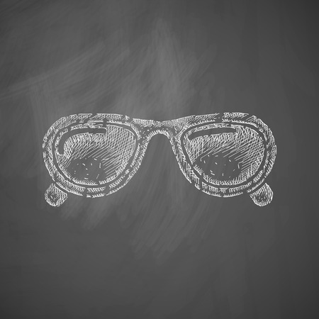 hyperopia: sunglasses icon Illustration
