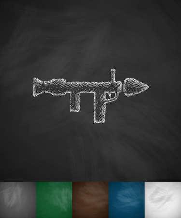 mortar icon. Hand drawn vector illustration. Chalkboard Design