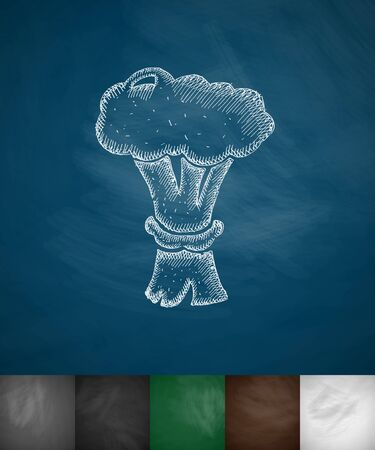 special education: nuclear explosion icon. Hand drawn vector illustration. Chalkboard Design