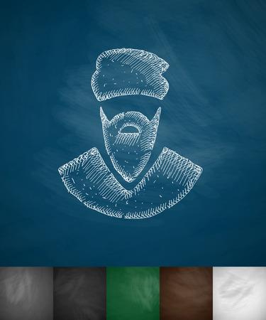 hostages: terrorist icon. Hand drawn vector illustration. Chalkboard Design Illustration