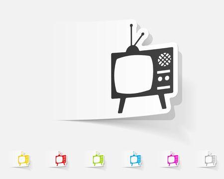 television antigua: elemento de diseño realista. televisión vieja Vectores
