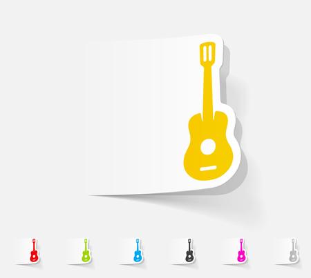 realistic design element. guitar Illustration