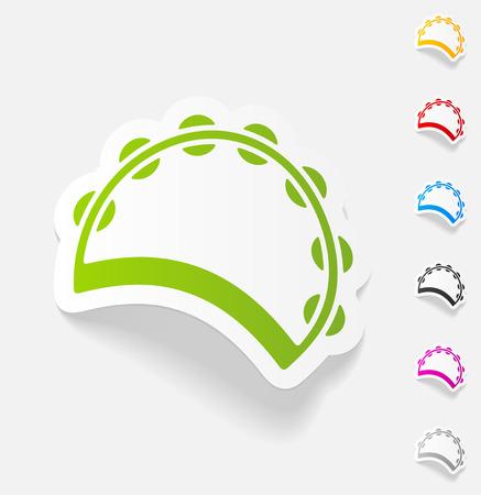 tambourine: realistic design element. tambourine Illustration