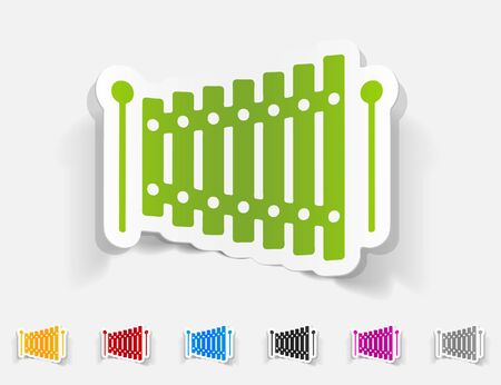 timbre: realistic design element. xylophone